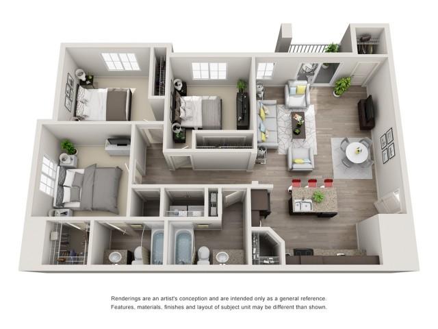 3 Bedroom Floorplan   Sandalwood