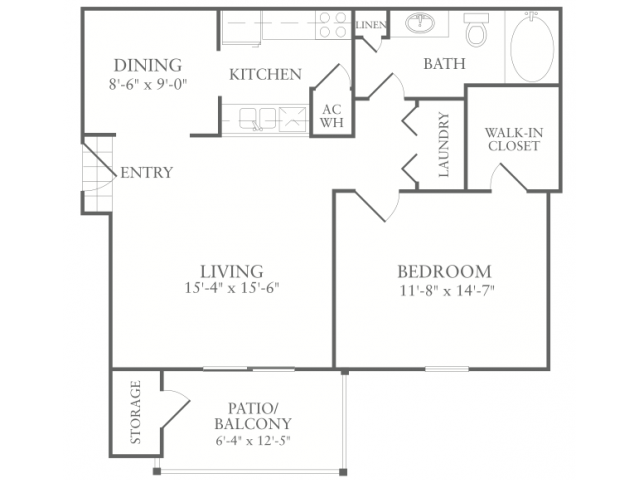 Floor Plan 1 | Apartments In McDonough | Amber Chase