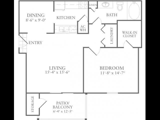 Floor Plan 2 | Apartments In McDonough Georgia | Amber Chase