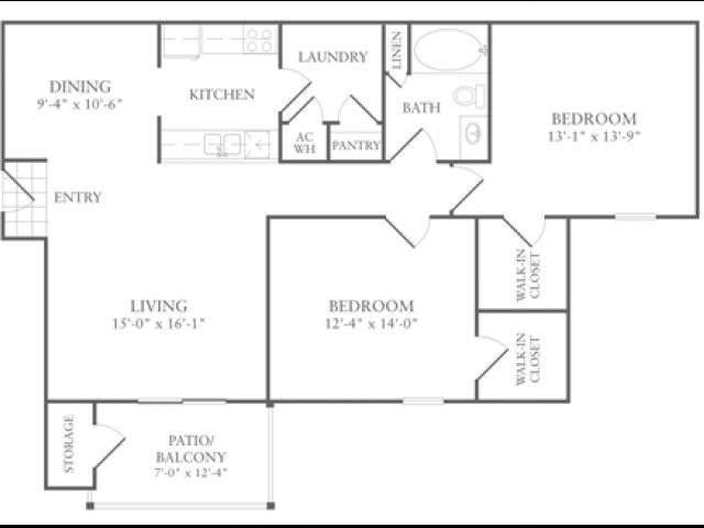 Floor Plan 3 | Luxury Apartments In McDonough GA | Amber Chase