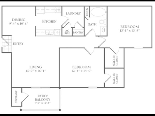 Floor Plan 4 | Luxury Apartments McDonough GA | Amber Chase