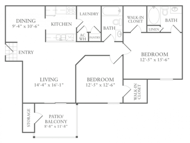 Floor Plan 7 | Apartments In McDonough Georgia | Amber Chase