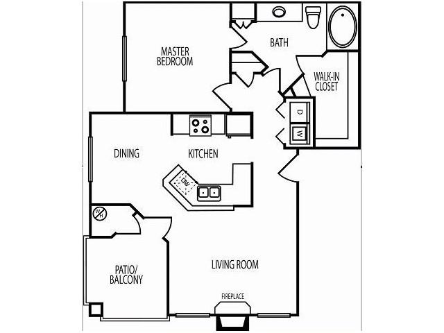 1 Bedroom Floor Plan | Chandler AZ Apartments | The Ventura