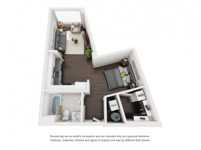 Floor Plan 3 | Somerville Apartments | Montaje