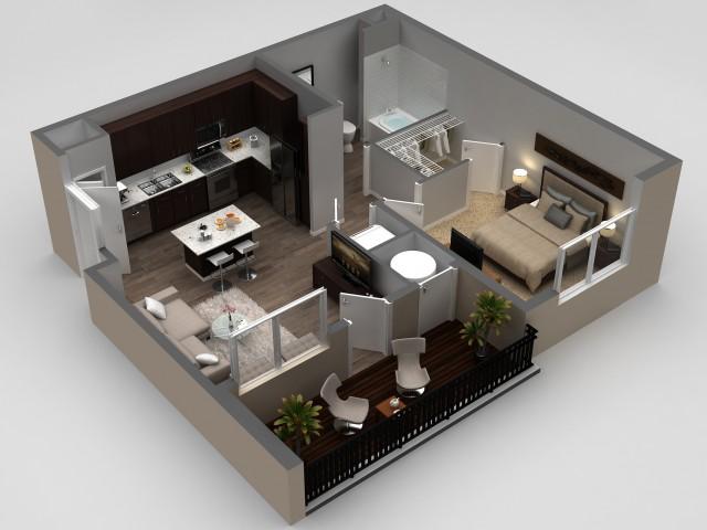 1 Bedroom Floor Plan | Apartments In Thornton | Parkhouse