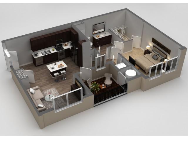 1 Bedroom Floor Plan | Apartments In Thornton | Parkhouse 1