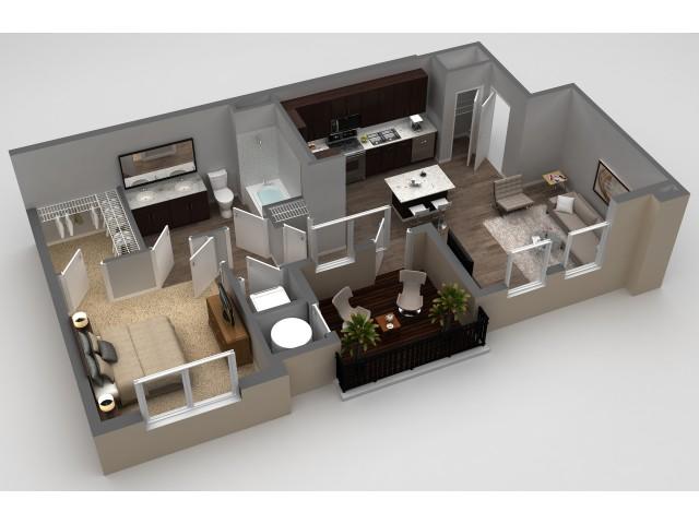 1 Bedroom Floor Plan | Apartments In Thornton | Parkhouse 2