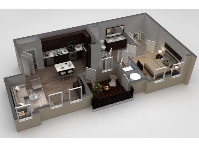 1 Bedroom Floor Plan | Apartments In Thornton | Parkhouse 15