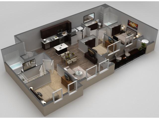 3 Bdrm Floor Plan | Apartments In Thornton | Parkhouse