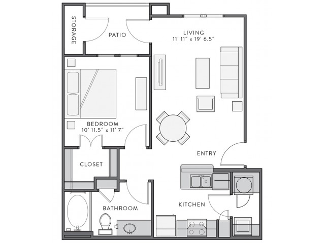 Floor Plan 1 | Apartments In Lake Charles Louisiana | Watervue