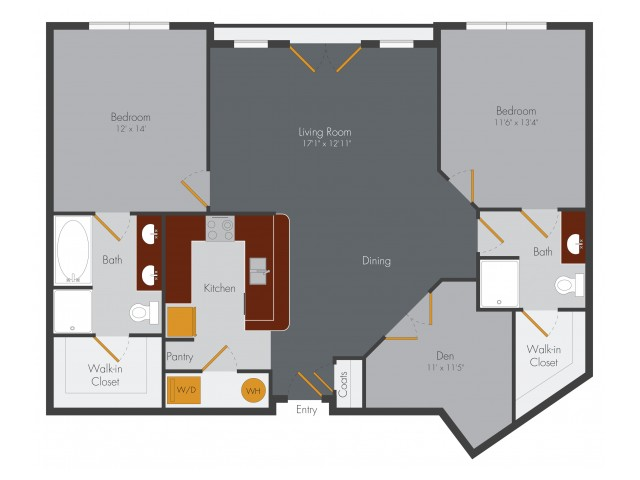 Two Bedroom 8 | Pencil Factory Flats