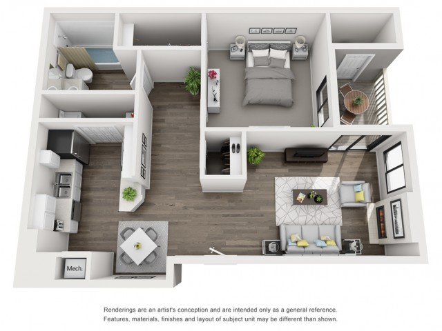 Floor Plan 1 | Morrison Apartments | Vista at Trappers Glen