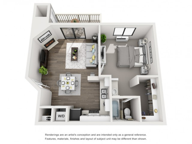 Floor Plan 2 | Apartments In Morrison CO | Vista at Trappers Glen
