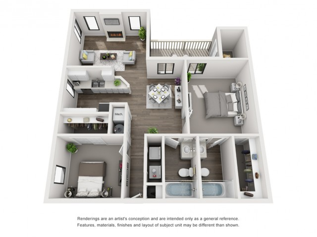 Floor Plan 5 | Apartments Morrison CO | Vista at Trappers Glen