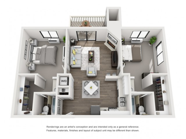 Floor Plan 6 | Morrison Apartments | Vista at Trappers Glen