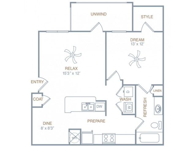 Floor Plan 2 | Apartments Prattville AL | Meadows at HomePlace