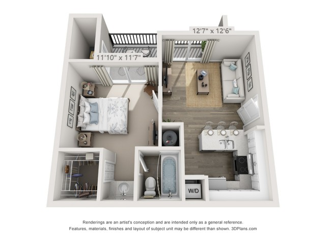 Floor Plan 1 | Boynton Beach Apartments | Ashley Lake Park
