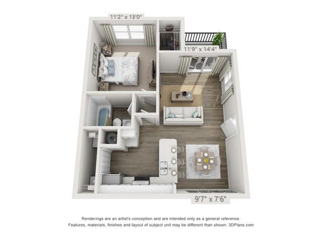 Floor Plan 2 | Apartments Boynton Beach | Ashley Lake Park