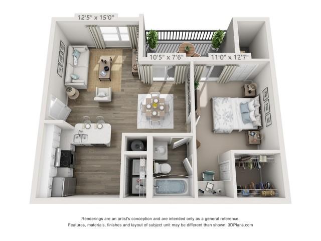Floor Plan 3 | Apartments For Rent In Boynton Beach FL | Ashley Lake Park