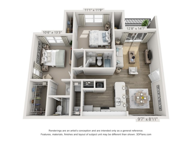Floor Plan 5 | Boynton Beach Apartment Rentals | Ashley Lake Park