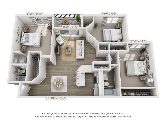Floor Plan 6 | Boynton Beach Apartments | Ashley Lake Park
