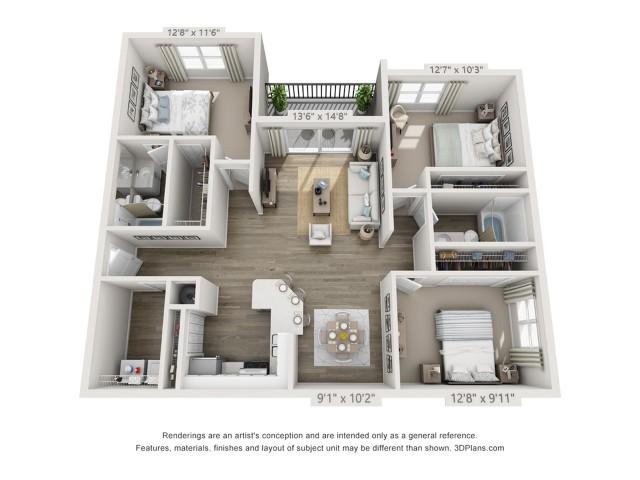 Floor Plan 7 | Apartments Boynton Beach | Ashley Lake Park