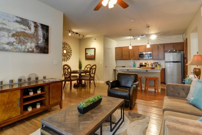 Spacious Living Room   Apartments for Rent in San Antonio TX   Sendera Landmark