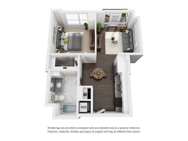 Penthouse - One Bedroom -634 Sqft