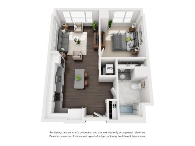 Penthouse - One Bedrooom - 696 Sqft