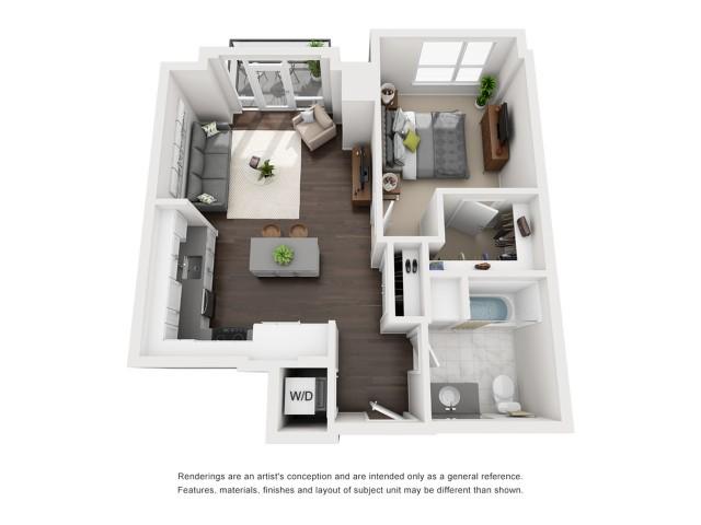Penthouse - One Bedroom - 743 Sqft