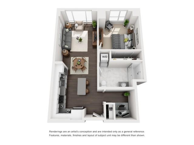 Penhouse - One Bedroom - 756 Sqft