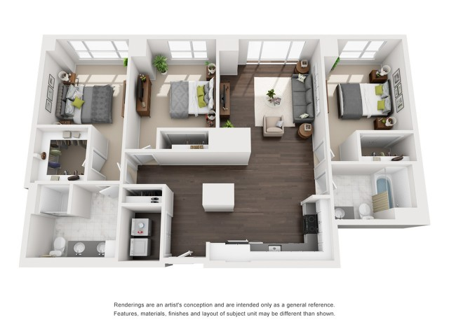 Penthouse - Three Bedroom - 1460 Sqft
