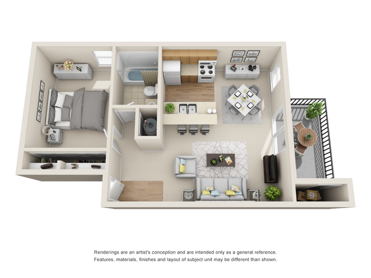 1 Bedroom Floor Plan   Park Place on 92nd
