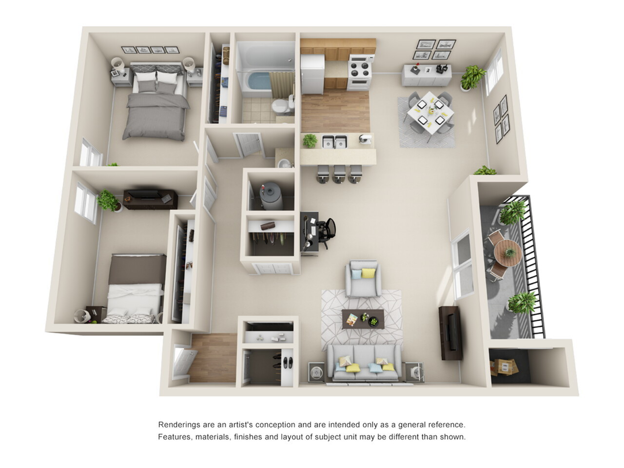 2 Bedroom Floor Plan   Park Place on 92nd