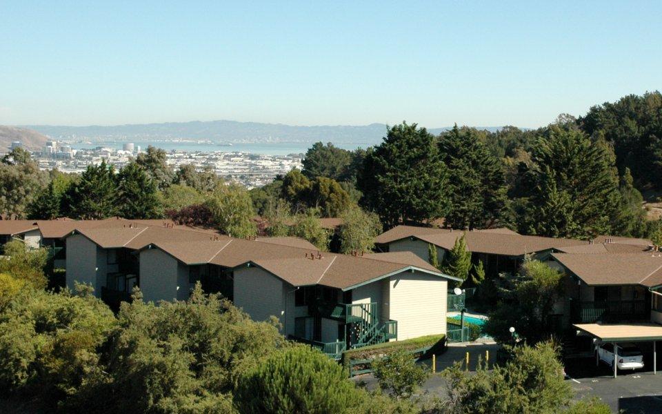 beautiful views at Crystal Springs Terrace Apartments in San Bruno, CA
