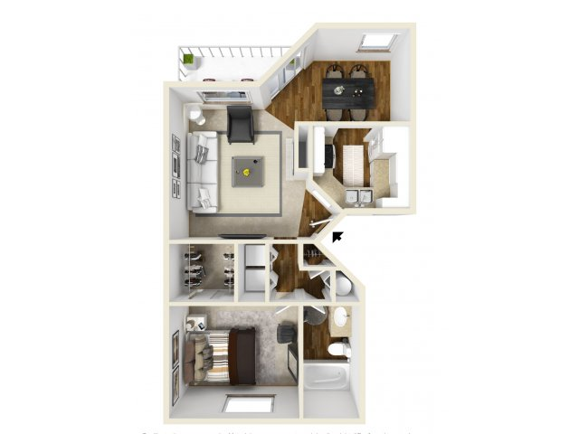 Meridian at Murrayhill one bedroom floor plan