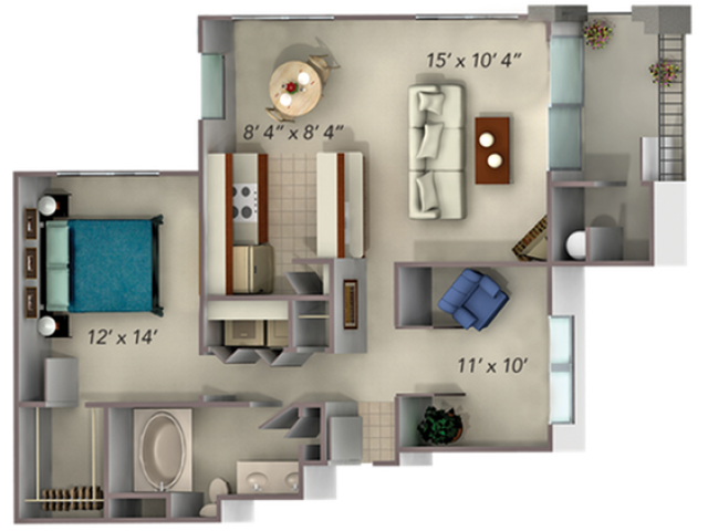 A3 floor plan at The Legends of Willow Creek in Folsom, CA