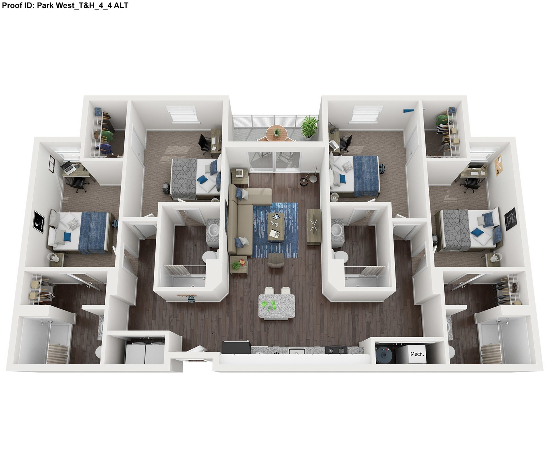 4 Bedroom 4 Bathroom Floor Plan