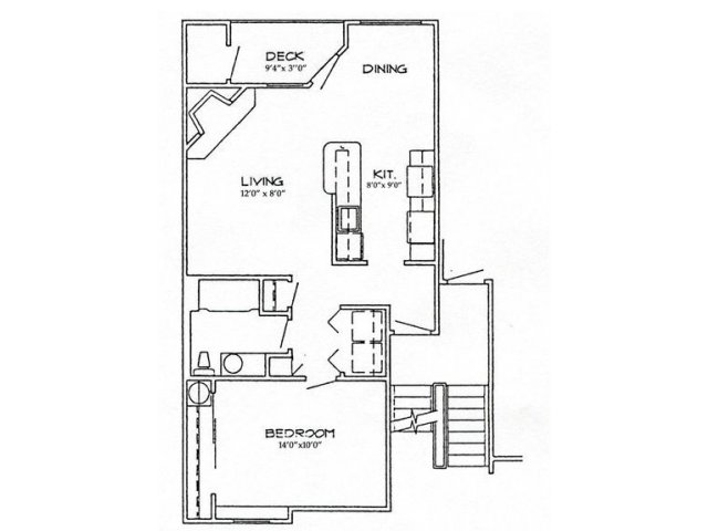 Spacious homey floor plan offering a huge bedroom plenty of room for that king size bed!  The living room is large with lots of windows for ample light and beautiful views. Full Size washer and dryer and lots of closets and extra storage.