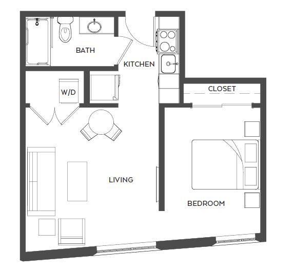Tree house floor plans Circular Treehouse Ohsu Apartments In Marquam Hill Portland Apartments Live Treehouse