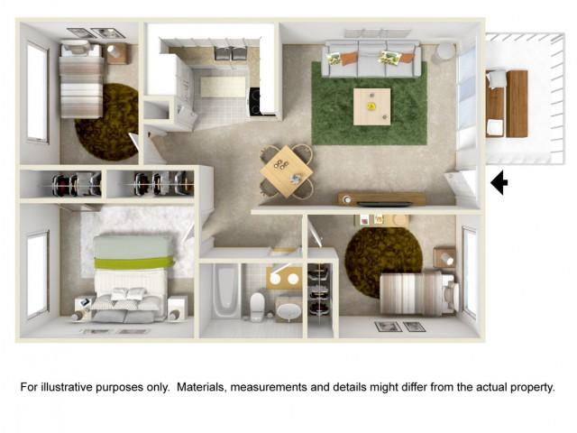 3 Bedroom 1 Bath Garden Style Home