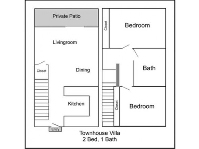 1 bedroom townhouse. Townhouse Villa 2 Bed Apartments