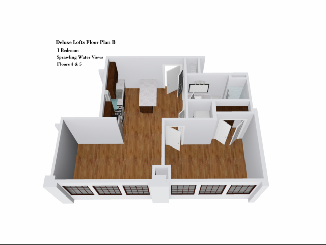 Deluxe Lofts Floor Plan B