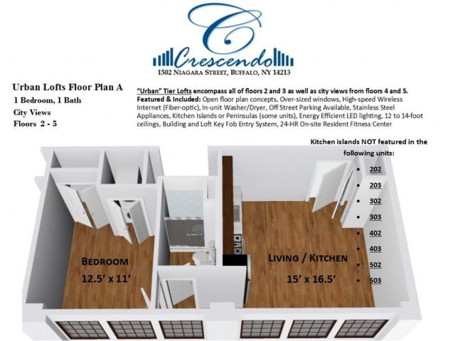 Urban Lofts Floor Plan A
