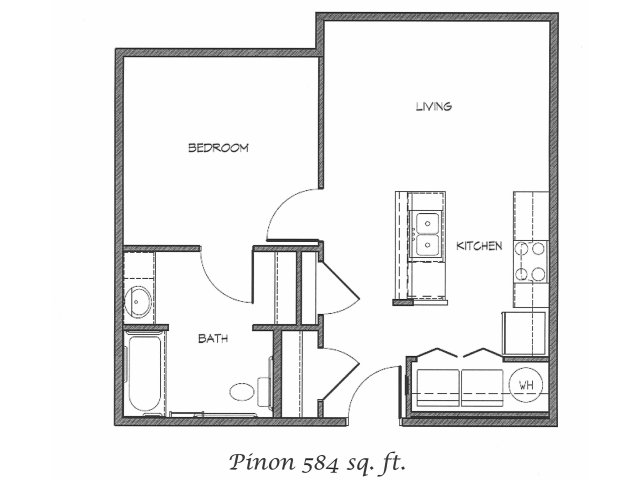 2D Floor Plan image for the Pinon Floor Plan of Property Anasazi Village