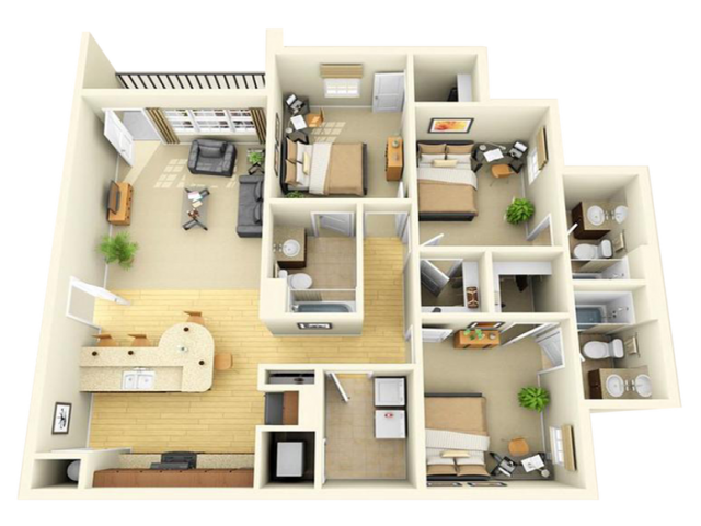 All|Floor Plans3 Bedroom 3 Bathroom