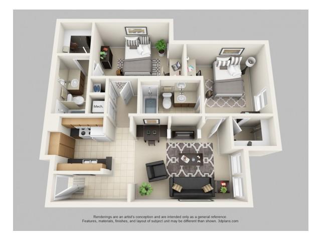 2 Bed 2 Bath Apartment in IOWA CITY IA Hawks Ridge