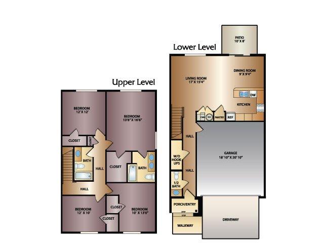 River 4x2.5 Floor Plan