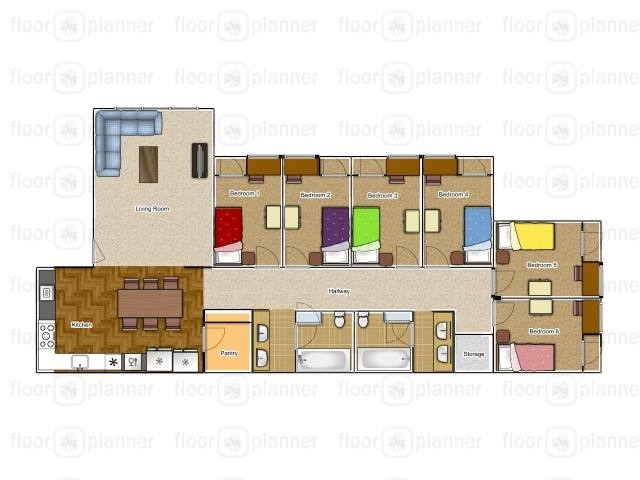 Private 6 Bedroom Units Building 5 only has washer and dryers in pantry