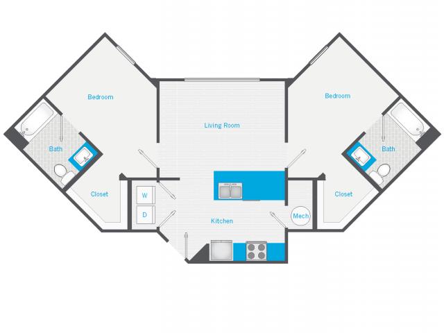 2 Bedroom, 2 Bathroom Deluxe